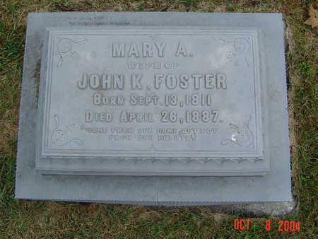 FOSTER, MARY A. - Delaware County, Iowa | MARY A. FOSTER
