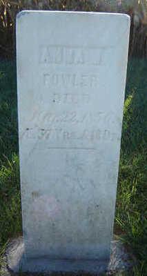 FOWLER, ANNA M. - Delaware County, Iowa   ANNA M. FOWLER