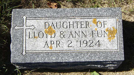 FUNK, INFANT DAUGHTER - Delaware County, Iowa | INFANT DAUGHTER FUNK