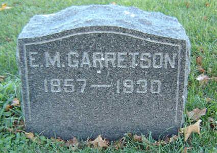 GARRETSON, ERASTUS M. - Delaware County, Iowa   ERASTUS M. GARRETSON