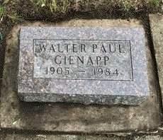 GIENAPP, WALTER PAUL - Delaware County, Iowa   WALTER PAUL GIENAPP