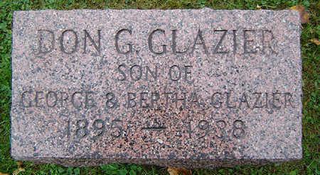 GLAZIER, DON G. - Delaware County, Iowa   DON G. GLAZIER