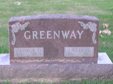 GREENWAY, LILLIE G. - Delaware County, Iowa | LILLIE G. GREENWAY