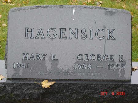 HAGENSICK, GEORGE E. - Delaware County, Iowa   GEORGE E. HAGENSICK
