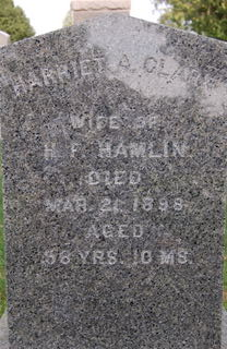 CLARK HAMLIN, HARRIET A. - Delaware County, Iowa | HARRIET A. CLARK HAMLIN