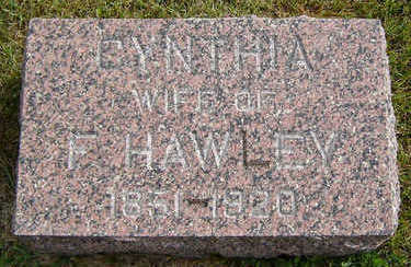 HAWLEY, CYNTHIA - Delaware County, Iowa   CYNTHIA HAWLEY