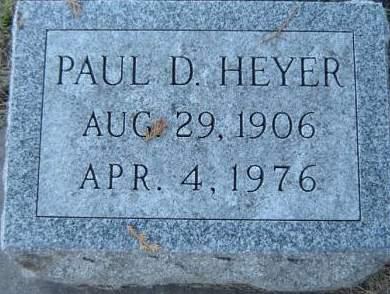 HEYER, PAUL D. - Delaware County, Iowa | PAUL D. HEYER