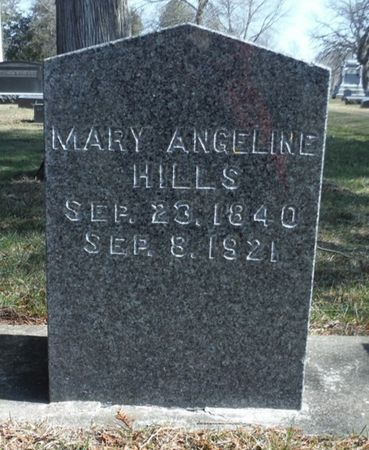 HILLS, MARY ANGELINE - Delaware County, Iowa | MARY ANGELINE HILLS