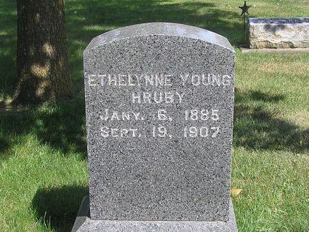YOUNG HRUBY, ETHELYNNE - Delaware County, Iowa | ETHELYNNE YOUNG HRUBY