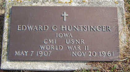 HUNTSINGER, EDWARD G. - Delaware County, Iowa | EDWARD G. HUNTSINGER