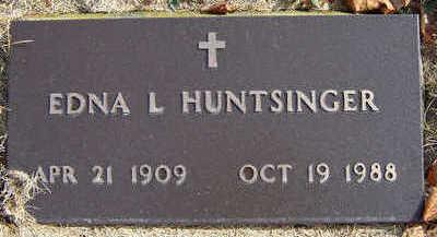 HUNTSINGER, EDNA L. - Delaware County, Iowa | EDNA L. HUNTSINGER