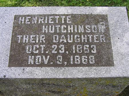 HUTCHINSON, HENRIETTE - Delaware County, Iowa   HENRIETTE HUTCHINSON