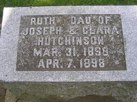 HUTCHINSON, RUTH - Delaware County, Iowa   RUTH HUTCHINSON