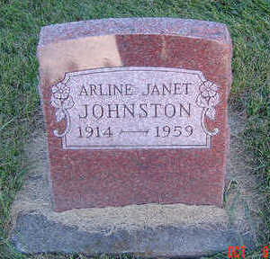 JOHNSTON, ARLINE JANET - Delaware County, Iowa | ARLINE JANET JOHNSTON