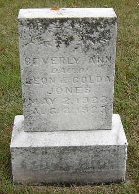 JONES, BEVERLY ANN - Delaware County, Iowa   BEVERLY ANN JONES