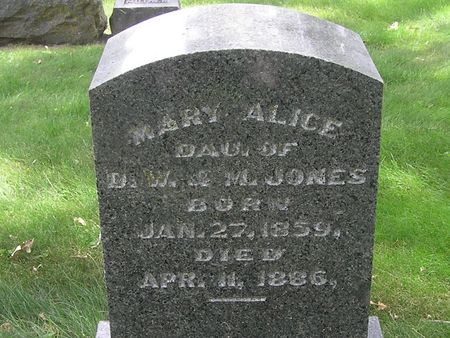 JONES, MARY ALICE - Delaware County, Iowa | MARY ALICE JONES