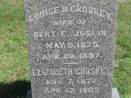 CROSKEY, ELIZABETH - Delaware County, Iowa   ELIZABETH CROSKEY