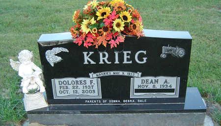 KRIEG, DOLORES FRANCES - Delaware County, Iowa | DOLORES FRANCES KRIEG