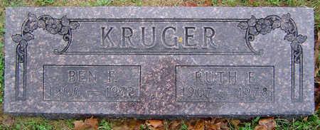 BISHOP KRUGER, RUTH E. - Delaware County, Iowa   RUTH E. BISHOP KRUGER