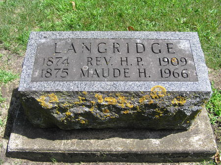 LANGRIDGE, REV. H. P. - Delaware County, Iowa | REV. H. P. LANGRIDGE