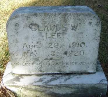 LEE, CLAUDE W. - Delaware County, Iowa | CLAUDE W. LEE
