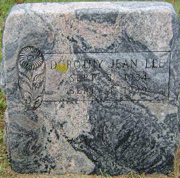 LEE, DOROTHY JEAN - Delaware County, Iowa | DOROTHY JEAN LEE