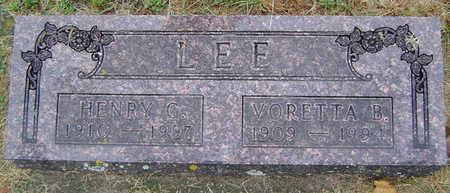 HALL LEE, VORETTA BLANCHE - Delaware County, Iowa   VORETTA BLANCHE HALL LEE