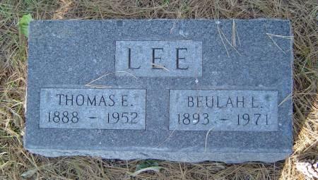 FLAUCHER LEE, BEULAH L. - Delaware County, Iowa   BEULAH L. FLAUCHER LEE