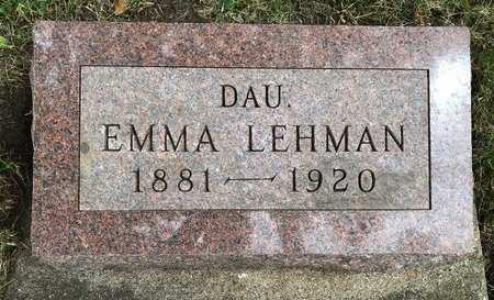 LEHMAN, EMMA - Delaware County, Iowa   EMMA LEHMAN