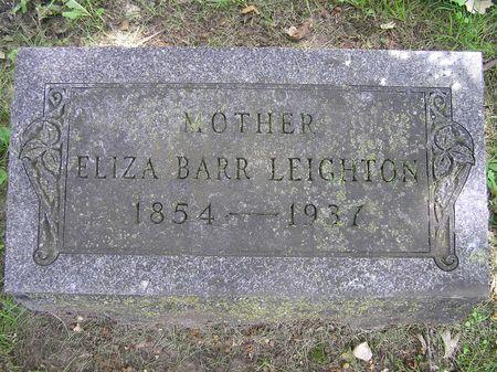 BARR LEIGHTON, ELIZA - Delaware County, Iowa | ELIZA BARR LEIGHTON