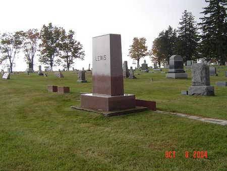 LEWIS, FAMILY STONE - Delaware County, Iowa   FAMILY STONE LEWIS