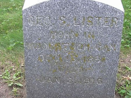 LISTER, GEO. S. - Delaware County, Iowa | GEO. S. LISTER