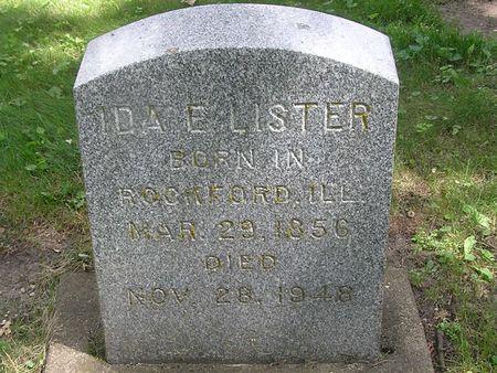LISTER, IDA E. - Delaware County, Iowa | IDA E. LISTER