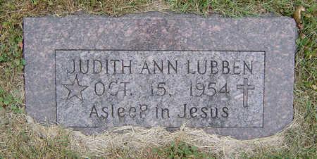 LUBBEN, JUDITH ANN - Delaware County, Iowa   JUDITH ANN LUBBEN