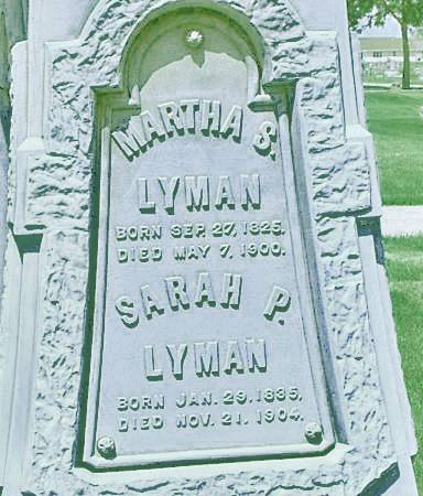 LYMAN, SARAH P. - Delaware County, Iowa   SARAH P. LYMAN