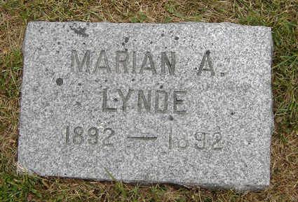 LYNDE, MARIAN A. - Delaware County, Iowa | MARIAN A. LYNDE