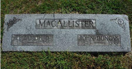MACALLISTER, ELIZABETH D. - Delaware County, Iowa   ELIZABETH D. MACALLISTER