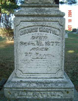 MARTIN, GEORGE - Delaware County, Iowa   GEORGE MARTIN