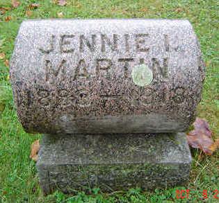 MARTIN, JENNIE I. - Delaware County, Iowa | JENNIE I. MARTIN