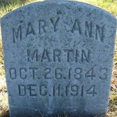 MARTIN, MARY ANN - Delaware County, Iowa | MARY ANN MARTIN