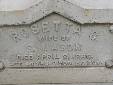 MASON, ROSETTA C. - Delaware County, Iowa | ROSETTA C. MASON