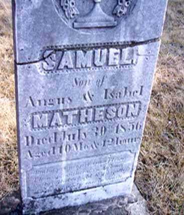 MATHESON, SAMUEL - Delaware County, Iowa   SAMUEL MATHESON