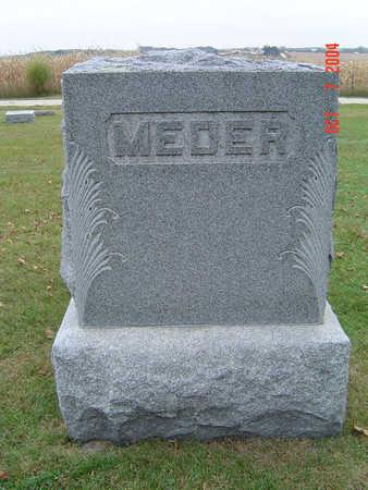 MEDER, FAMILY STONE - Delaware County, Iowa   FAMILY STONE MEDER