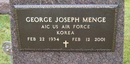 MENGE, GEORGE JOSEPH - Delaware County, Iowa   GEORGE JOSEPH MENGE