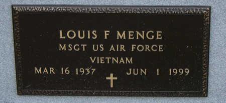 MENGE, LOUIS F. - Delaware County, Iowa | LOUIS F. MENGE