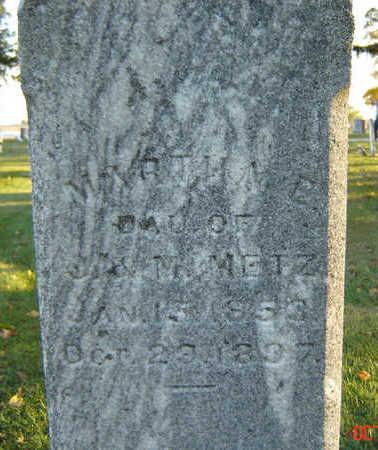 METZ, MARTHA E. - Delaware County, Iowa | MARTHA E. METZ