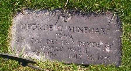MINEHART, GEORGE O. - Delaware County, Iowa   GEORGE O. MINEHART