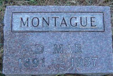 MONTAGUE, D. MAE - Delaware County, Iowa | D. MAE MONTAGUE