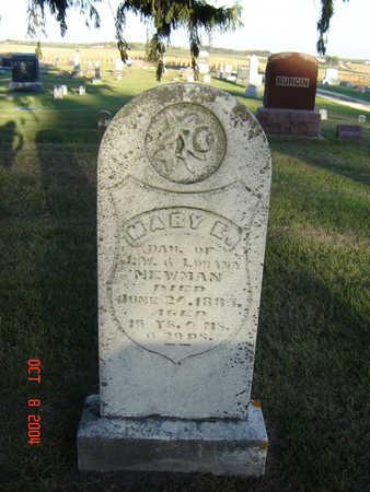 NEWMAN, MARY E. - Delaware County, Iowa | MARY E. NEWMAN