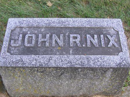 NIX, JOHN R. - Delaware County, Iowa   JOHN R. NIX